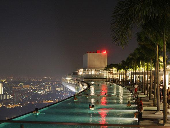 Infinity Pool And Marina Bay Sands Hotel In Singapura Tour Guide
