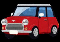 コンパクトカーのイラスト(赤)