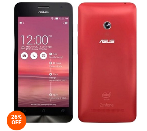 Harga Asus Zenfone 4C ZC451CG Merah Smartphone Juni 2015