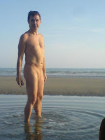 naturist, nudist, nudist beach, Shoreham Beach, naked man, naked boy