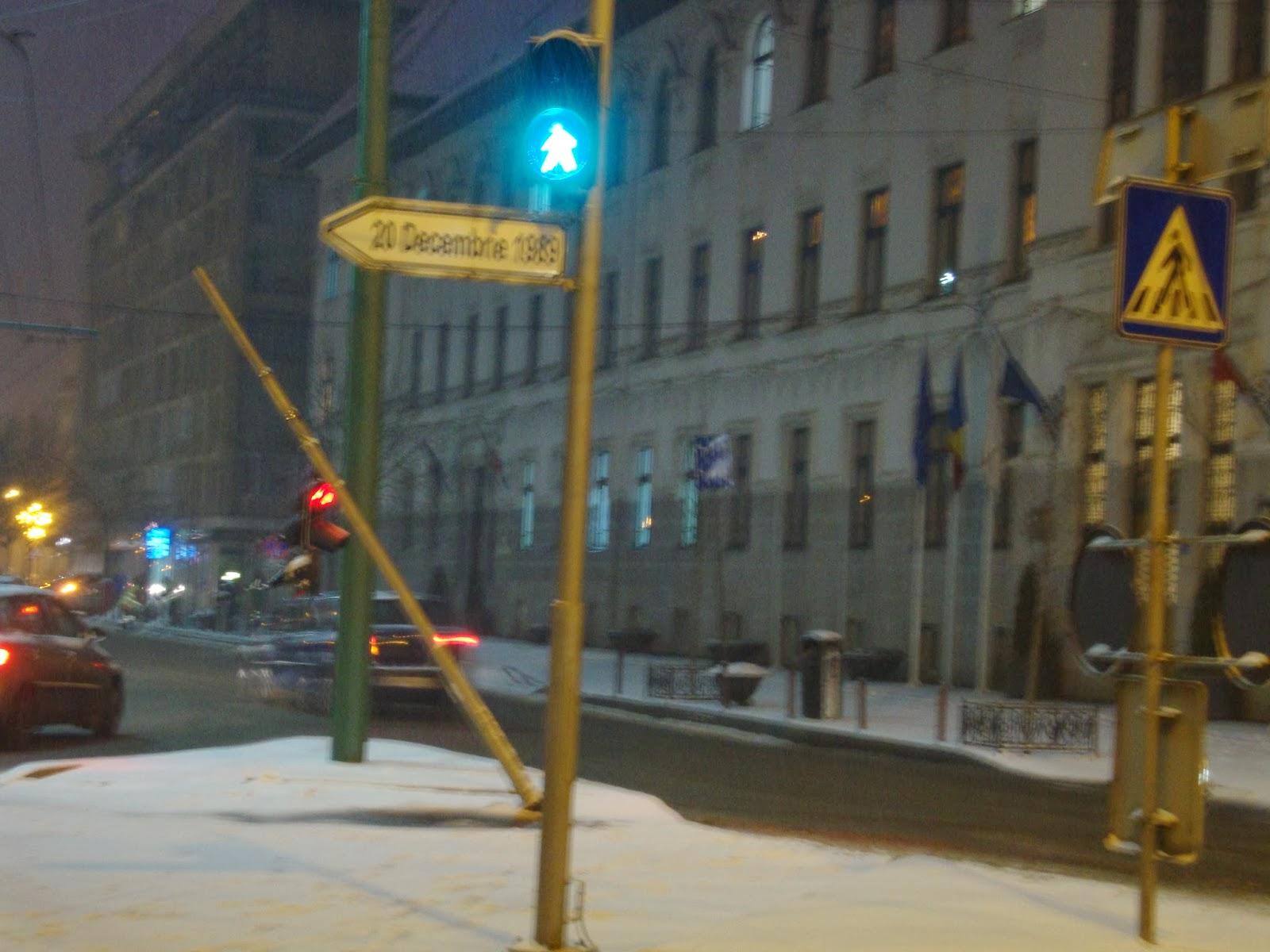 Timisoara iarna  - Primaria