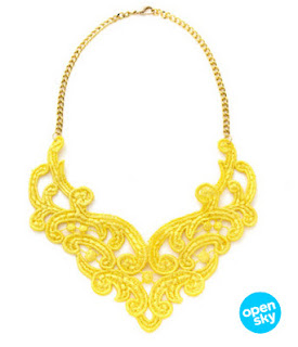 Glamour channel on Open Sky Lace Necklace