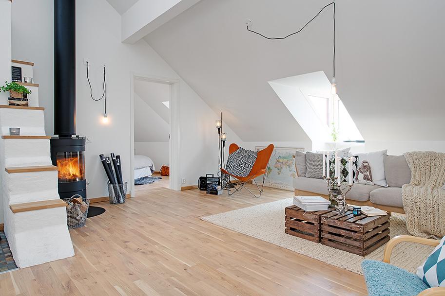 Amenajarea unei mansarde de 90 m jurnal de design interior - Badkamer mansard ...