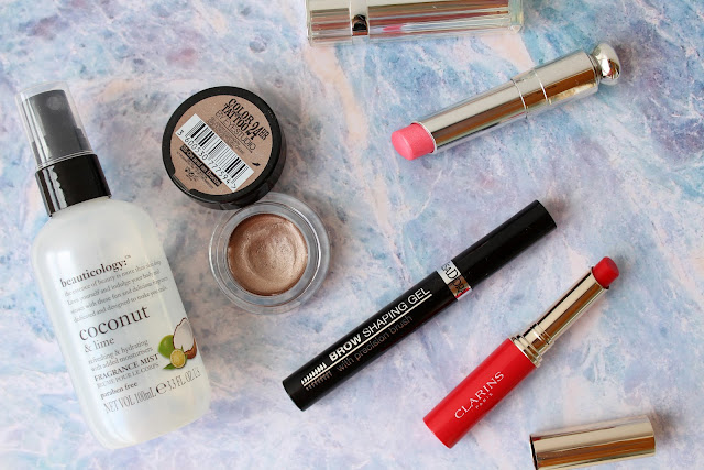 beauty favourites, maybelline, dior lipstick, clarins lip balm, current beauty favourites