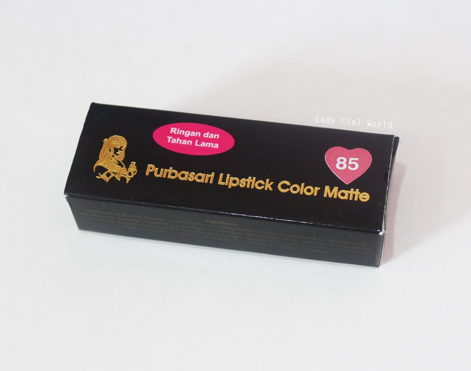 Beauty Time Eps 2 Review Purbasari Lipstick Color Matte No 85 Lipstik Collor Kandungan Yang Ada Di Ini Bisa Kalian Lihat Pada Foto Bawah Atau Untuk Lebih Jelasnya Disini Thanks Pemilik Akun