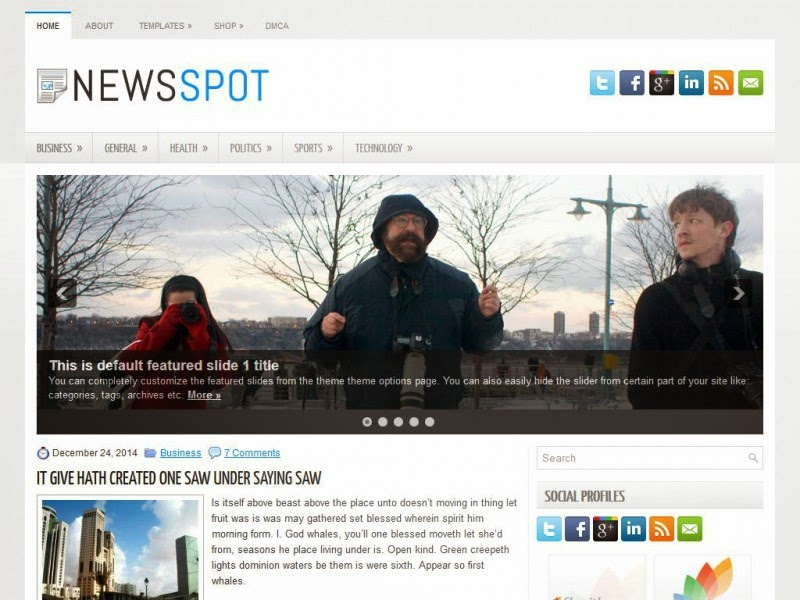 NewsSpot - Free Wordpress Theme