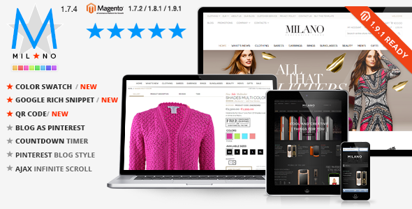 popular fashion store theme