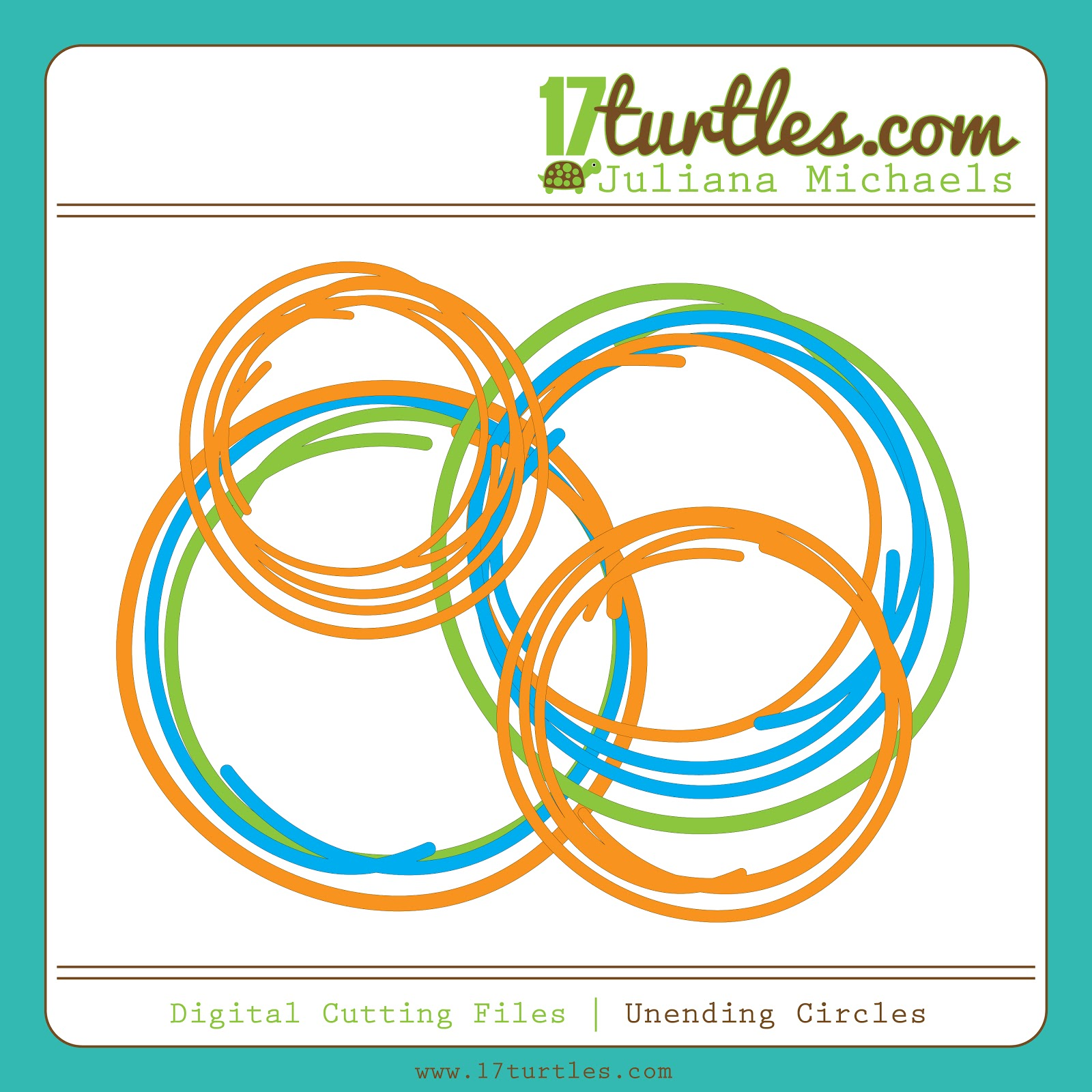 17turtles Digital Cut Files Unending Circles
