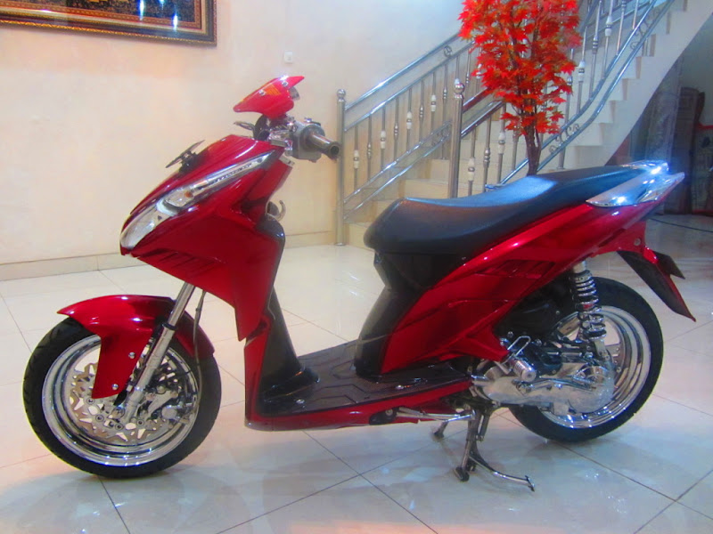 modifikasi vario cw, modifikasi honda vario techno, modifikasi motor  title=