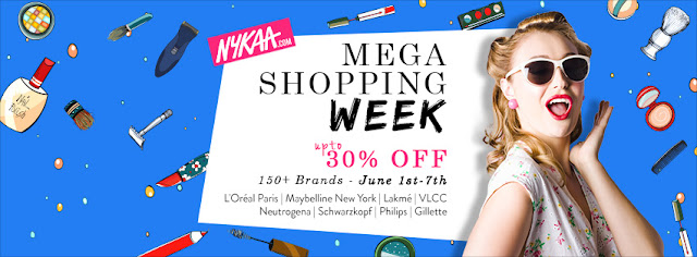 Nykaa's mega shopping week, Summer shopping, Biggest beauty sale, Online beauty sales, best discounts on makeup and beauty brands in India, India's best shopping website for beauty and makeup products, Indian makeup and beauty blog, Indian beauty blog, Indian makeup blogger,