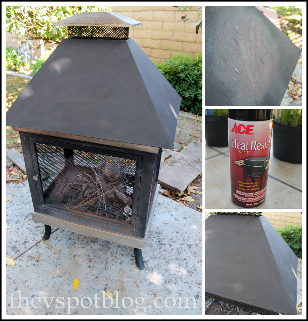 freshen up a fire pit with high heat spray paint the v spot. Black Bedroom Furniture Sets. Home Design Ideas