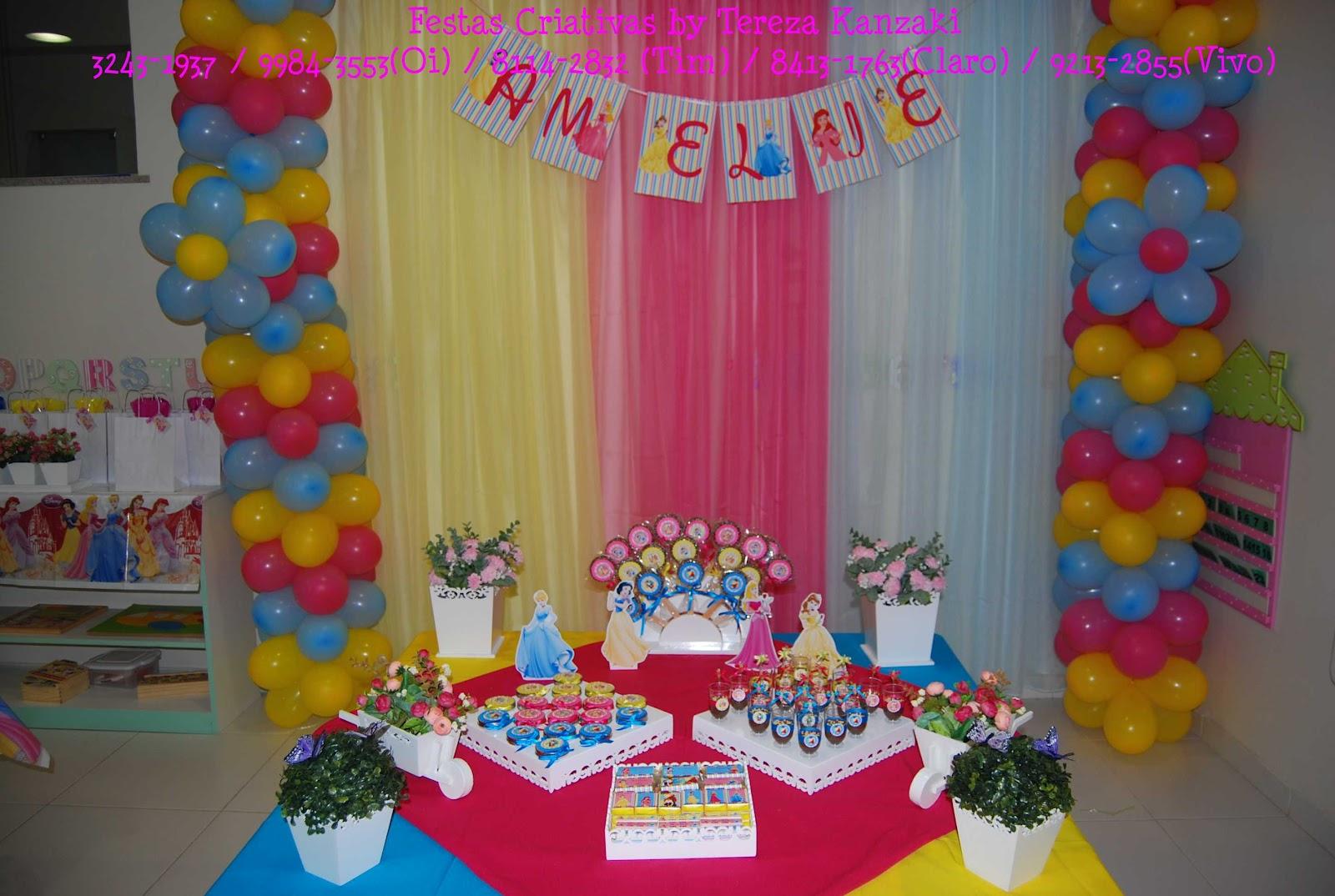 Festas Criativas by Tereza Kanzaki Princesas Disney Decoraç u00e3o e personalizados da festa de 2