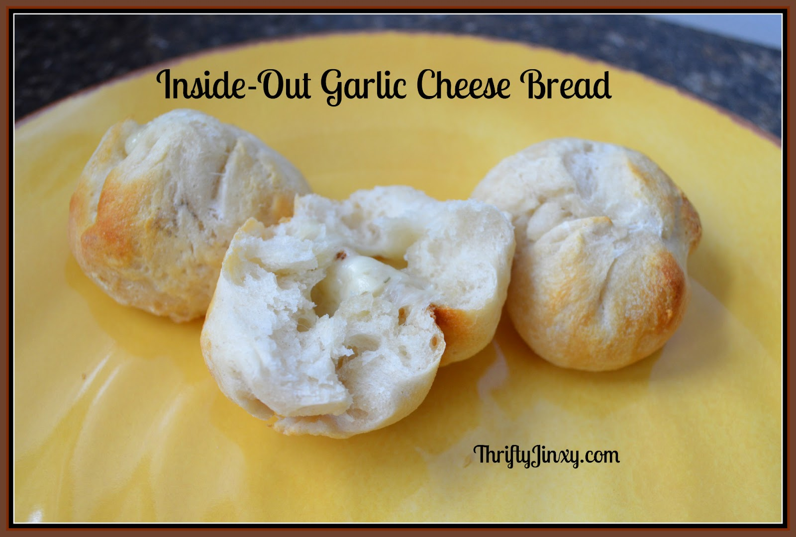 Inside-Out Garlic Cheese Bread Bites Recipe - Thrifty Jinxy