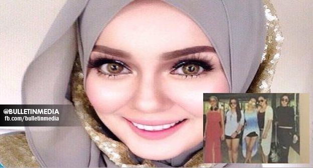 (Foto) Kantoi!!! Uqahsa Senrose Buka Tudung, Baju Seksi Ketika Bercuti Di Thailand