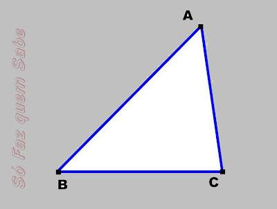 Triângulo no qual será traçada a altura.