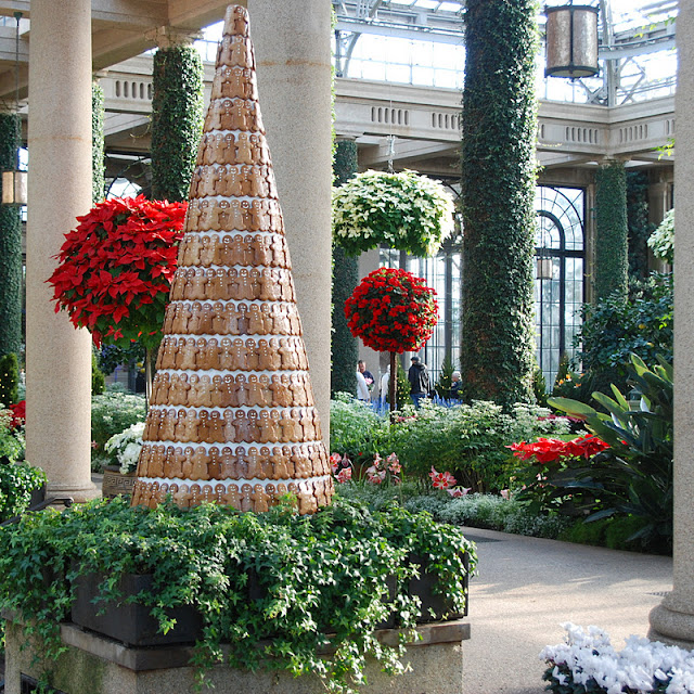 View of one of their enormous gingerbread trees into the Orangery