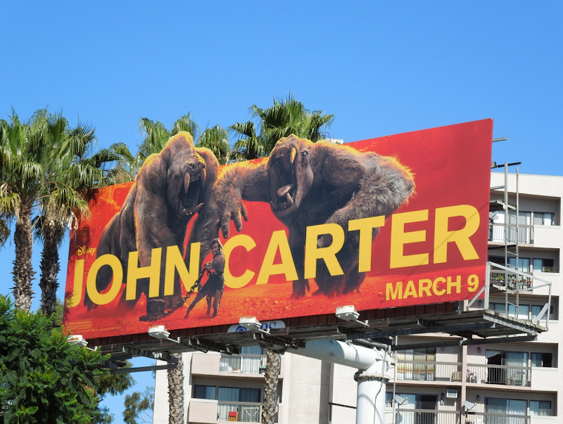 John Carter White Apes billboard