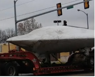 ufo on trailer bed spotted in kansas
