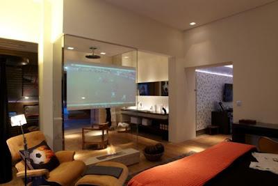 casa, Sala de estar, mansão, telão,neymar