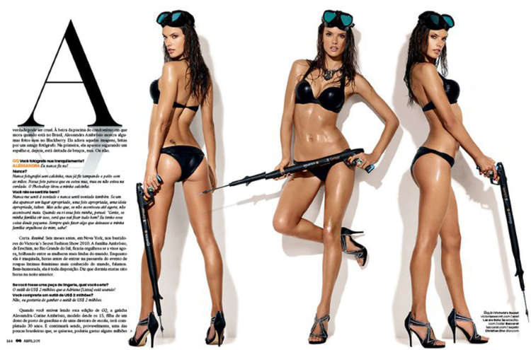 alessandra ambrosio gq brazil 2011. Alessandra Ambrosio Looks