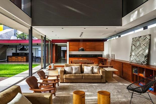 30 reas de churrasco gourmet integradas casa veja for Como e living room em portugues