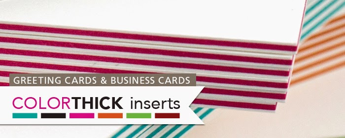 ColorTHICK greeting cards and business cards