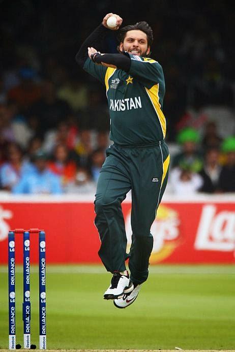Shahid Afridi Bowling Style Shahid Afridi Bowling Style