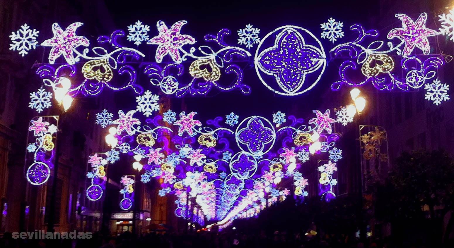 Luces para la navidad de 2014 sevillanadas sevilla en - Luces para navidad ...