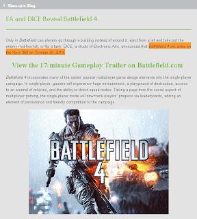 battlefield 4 xbox 360 release date rumor Rumor   Battlefield 4 (Xbox 360) Release Date Accidentally Revealed?