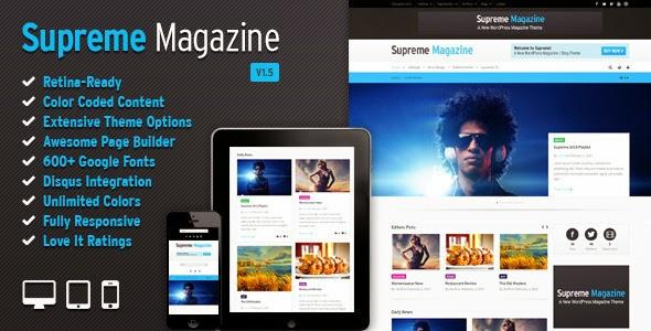 Download ThemeForest Supreme - Retina Responsive Magazine/Blog WP Theme for free.