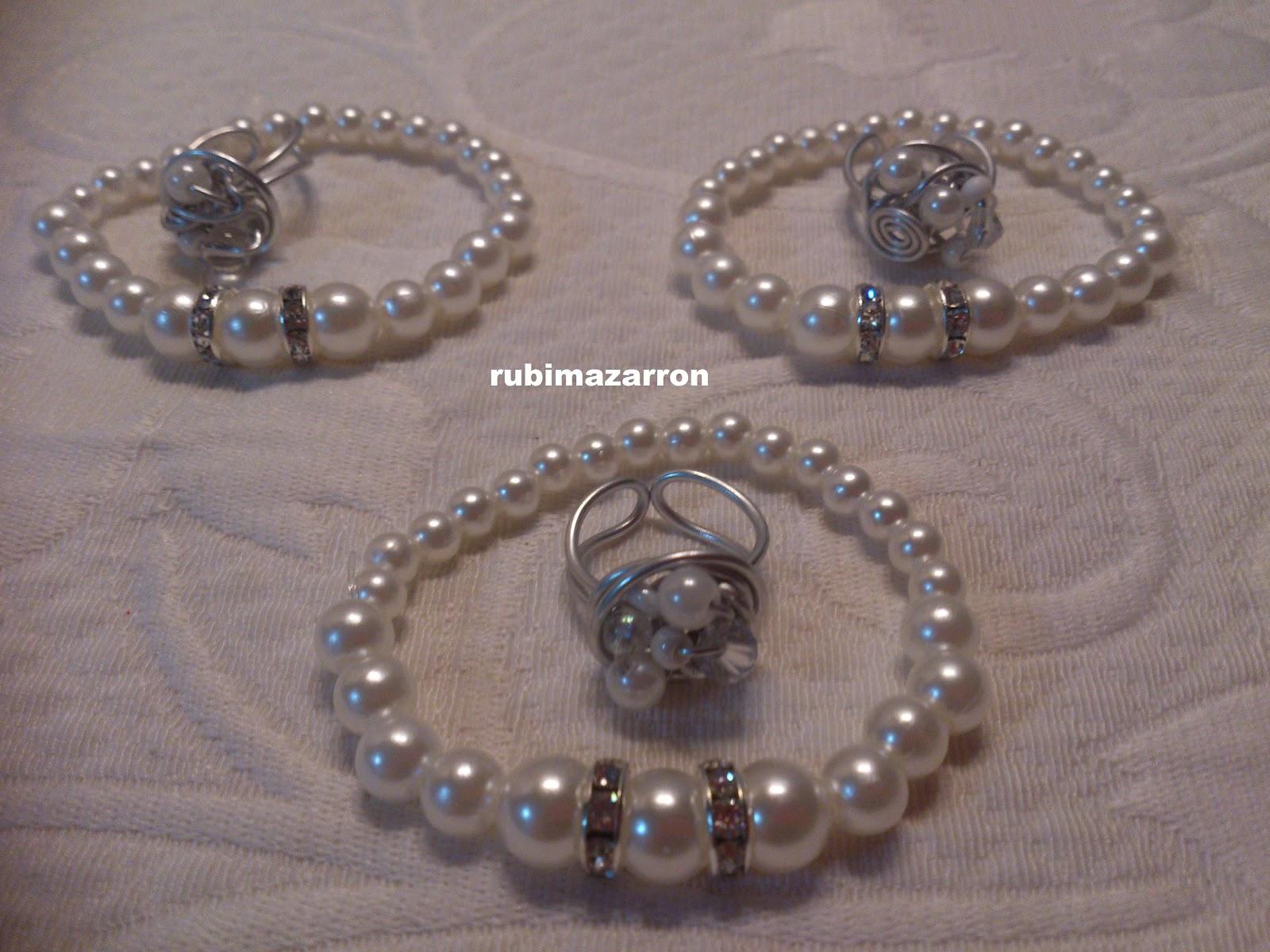 Conjuntos de alambre con perlas estos los regale en navidad a tres suscriptoras en youtube, fue un sorteo sorpresa pues nadie lo sabia.