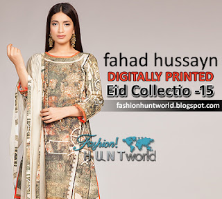 Fahad Hussayn's Eid Collection 2015 | Digitally Printed Lawn Dresses For Eid Ul Fitr