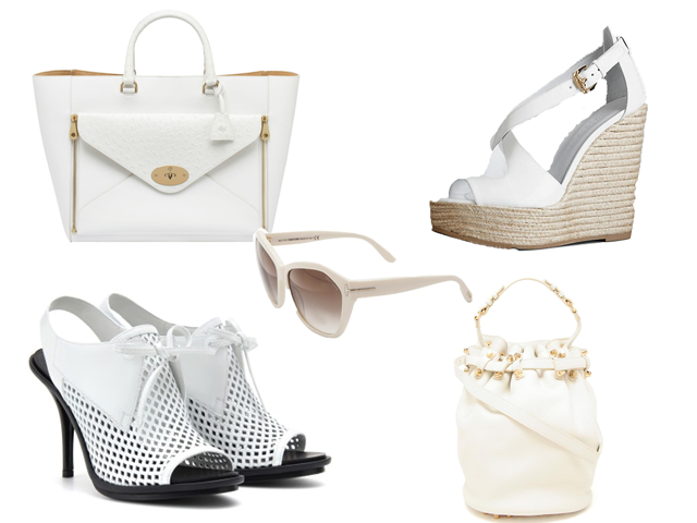 Wimbledon Inspired fashion Bags, Shoes White