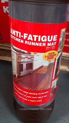 Use the Novaform Home Anti-Fatigue Kitchen Runner Mat to protect your hardwood floors