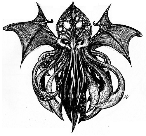 image Cthulhu tatto version  copyright mesalia.deviantart.com