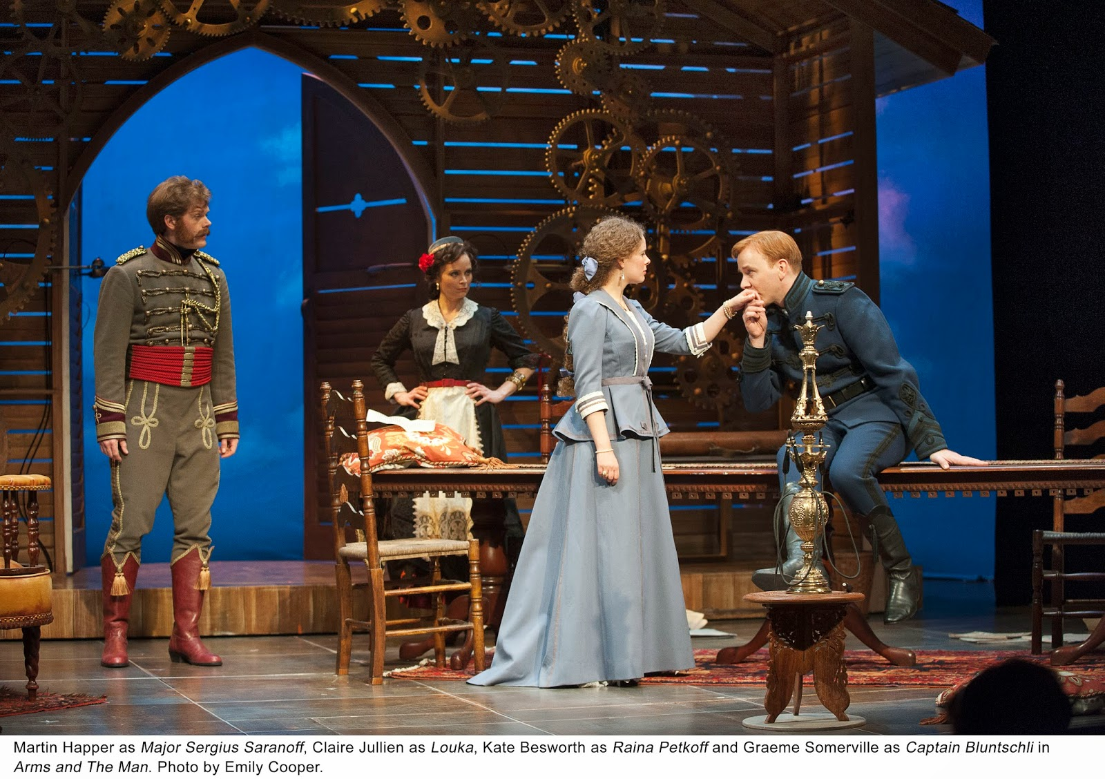 a critique of arms and the man a play Essays and criticism on george bernard shaw's arms and the man - critical evaluation war makes men tired and hungry, afraid and nervous in the person of bluntschli and in his comments about battle, shaw establishes the opposition with the archromantics of the play, raina and sergius the satire of the play is aimed.