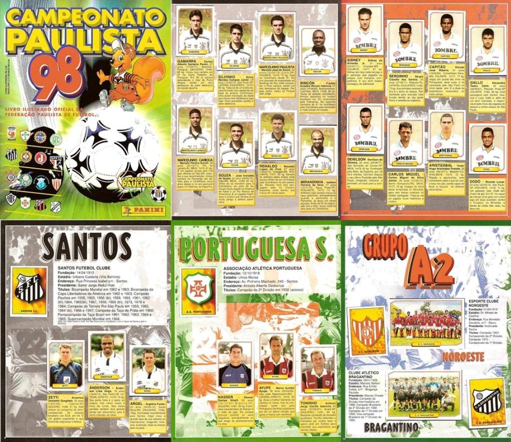 Panini Campeonato Brasileiro: Álbuns Escaneados Digitalizados: Álbum Campeonato Paulista