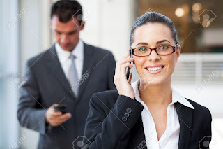 businessman, business woman, telefon