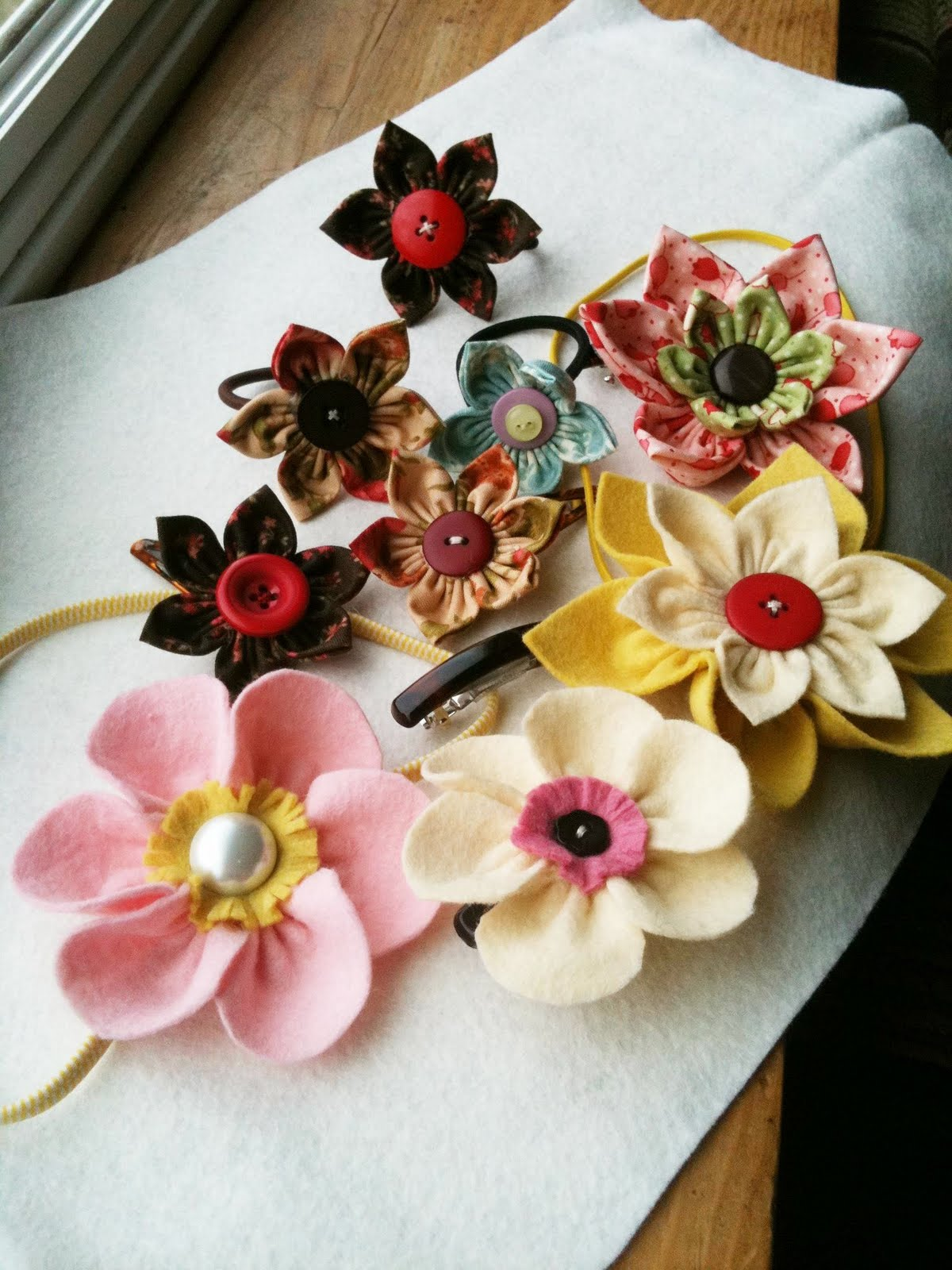 Sewing Felt Flowers