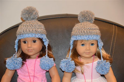 crochet hat American Doll