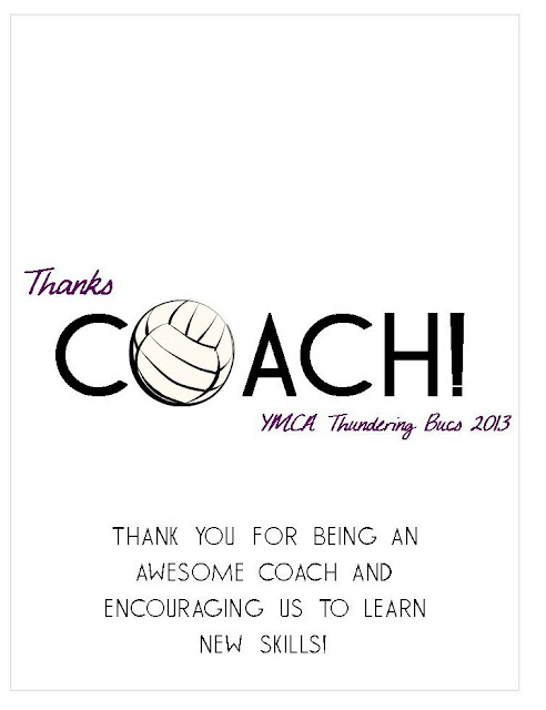 Volleyball Coach Candy Bar Wrapper