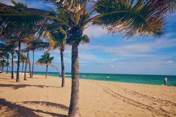 Wunderschöner Sandstrand bei Fort Lauderdale