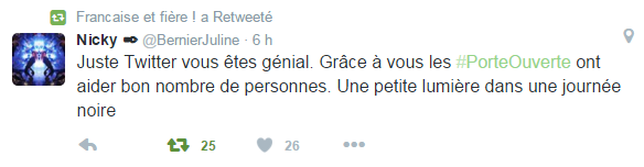 Paris attentat France Tweet twitter 13 novembre 2015