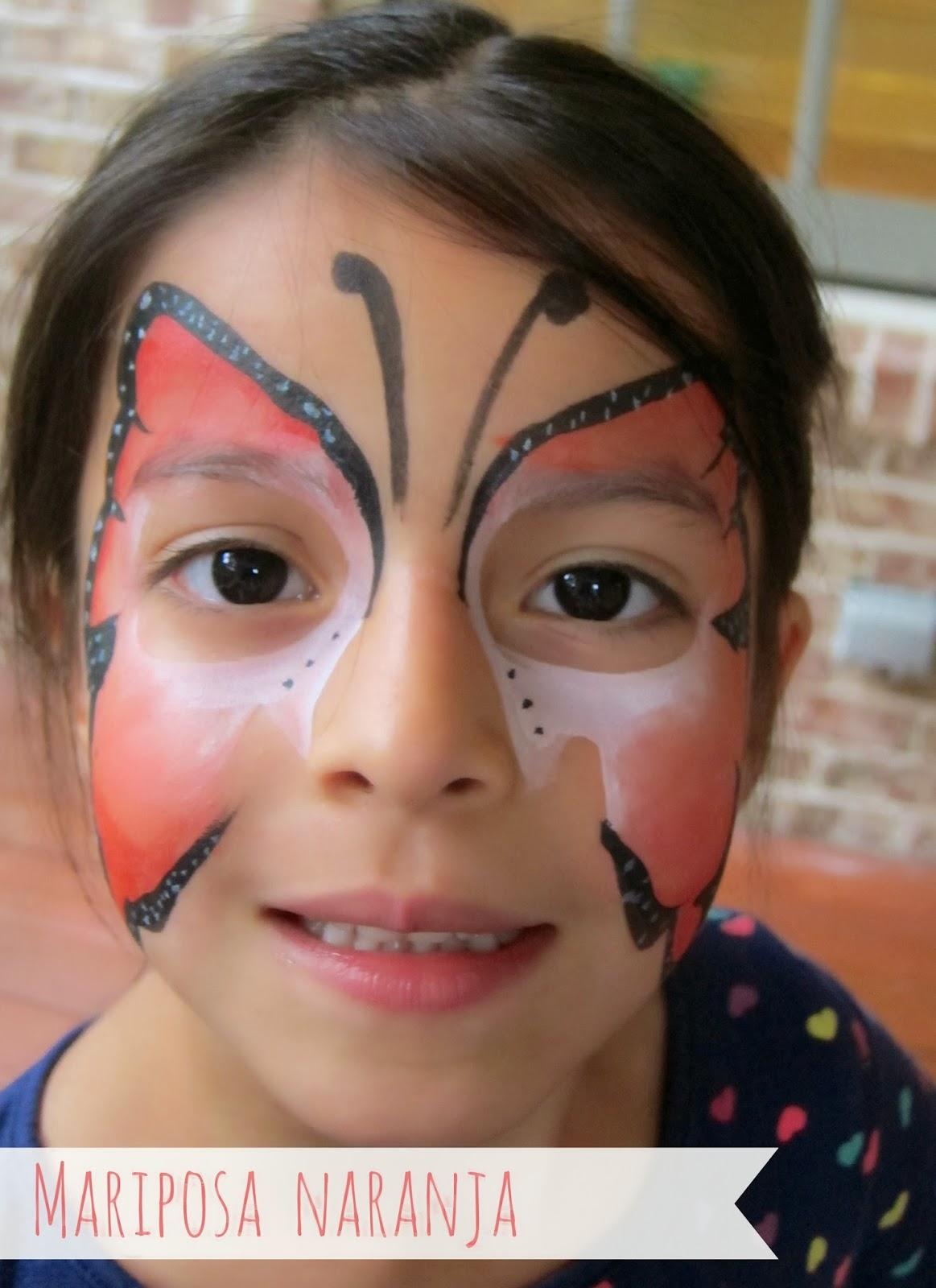 Como pintar la cara de mariposa imagui - Como pintar la cara de nina de bruja ...