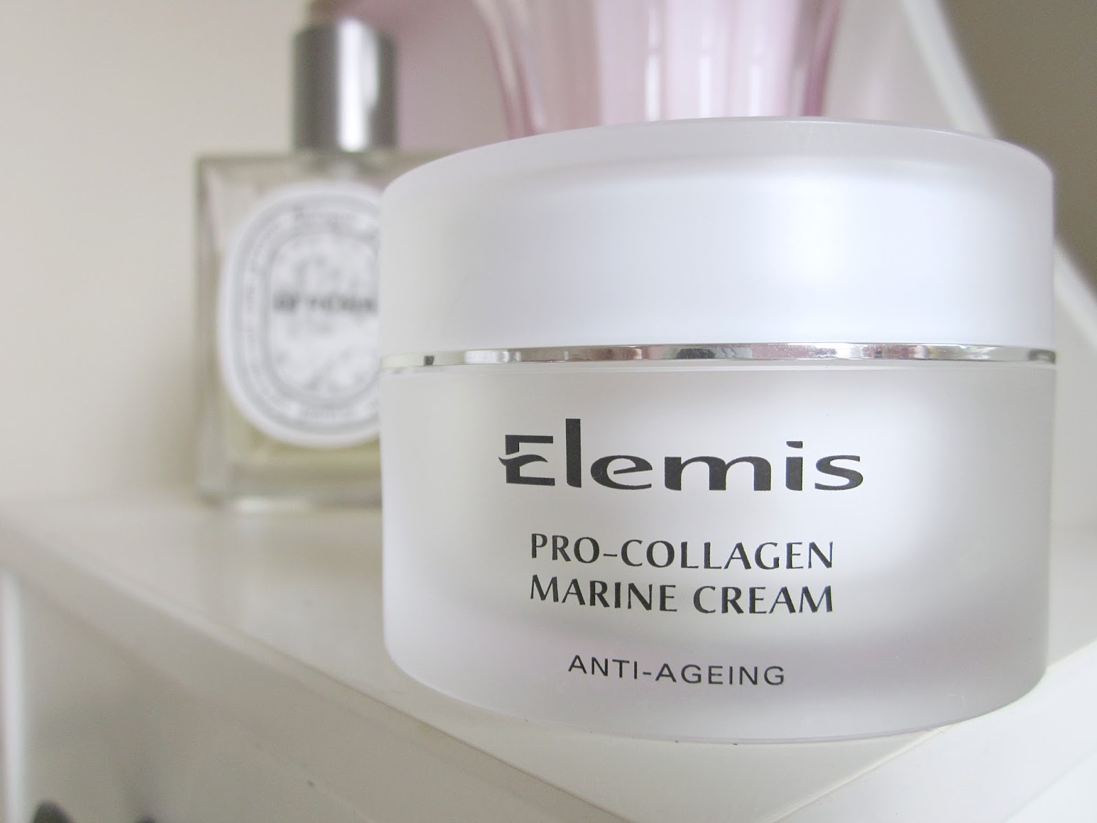 Elemis Pro Collagen Marine Cream on dressing table