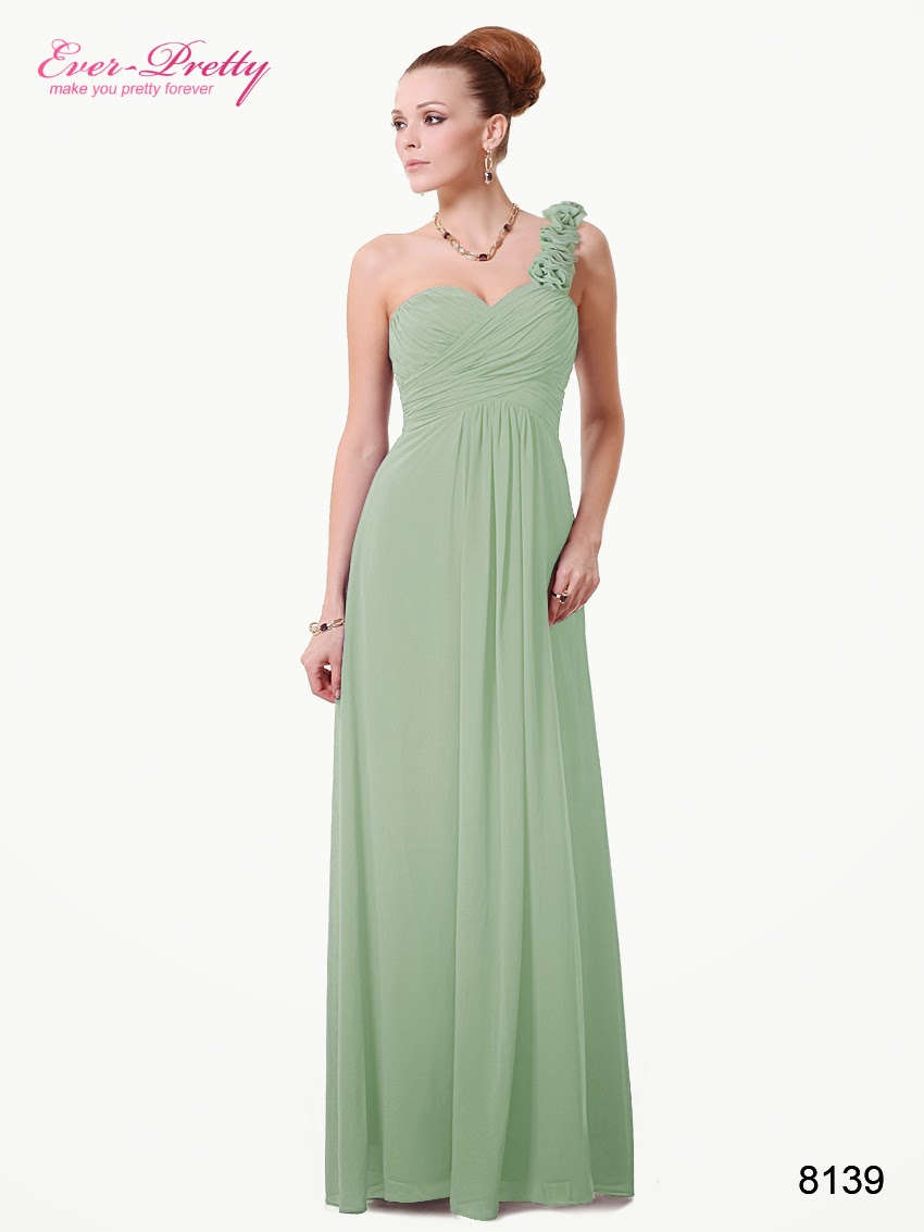 The gallery for pastel green bridesmaid dresses for Pastel green wedding dress