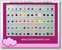 Ket Warna: S=standard, P=pastel, F=fluoresence, M=metalic, G=glitter ...