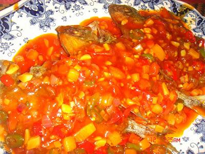 Ikan Bawal Sweet Sour and Kailan Ikan Masin