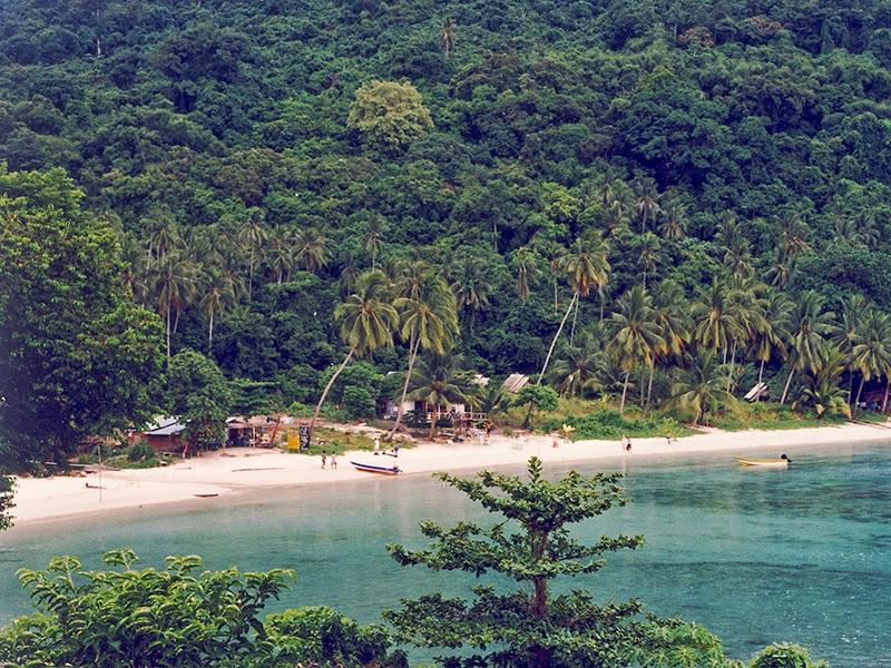 Photo de plage aux îles Perhentian en Malaisie
