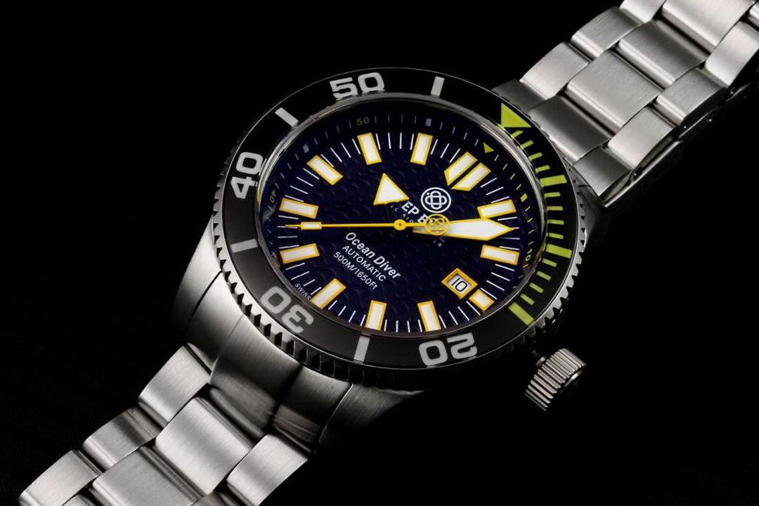 Oceanictime deep blue swiss ocean diver 500 - Dive deep blue ...